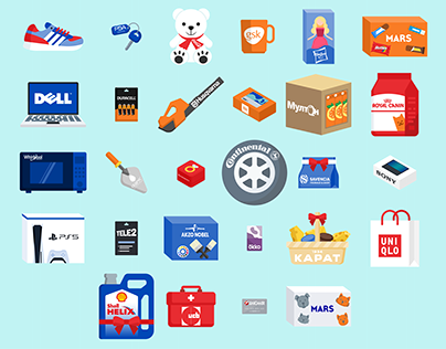 New Year presents icons