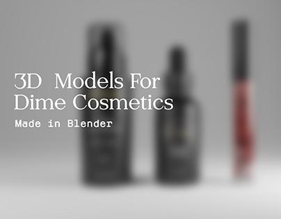 3D Cosmetics Render