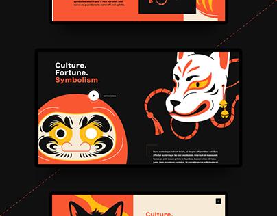 Japanese Talisman Illustration & UI Design