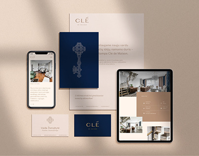 Clé de Maison Visual Identity, Strategy & Web design