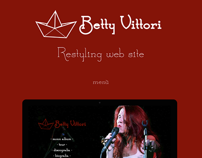 Restyling Betty Vittori's web site