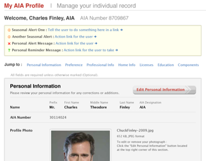 Online Profiles for Associations —AIA