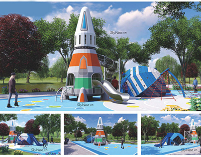 Thiết bị chơi ngoài trời trong công viên