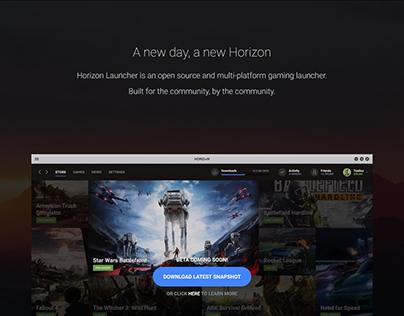 Launch Horizon Homepage