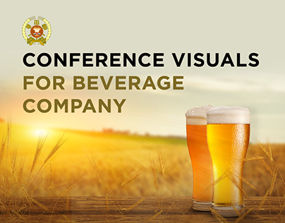 Conference visuals for beverage company