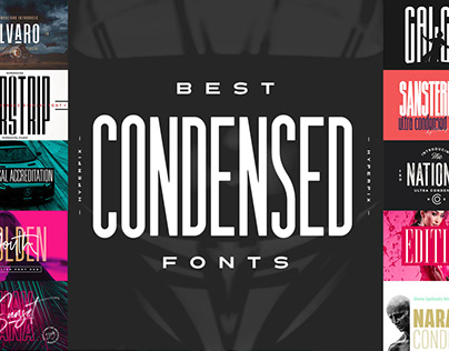 Best Condensed Fonts Collection
