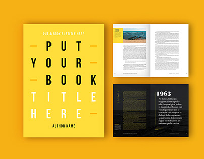 Adobe: Book Layout with Yellow Accents (Download)