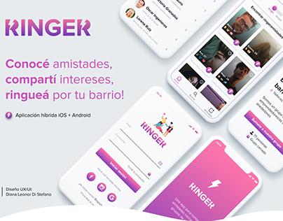 RINGER - UX/UI Design - Report and prototype