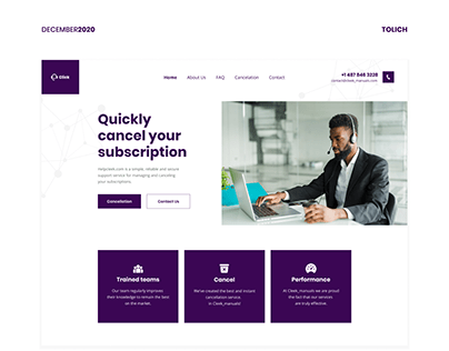 Landing page: Quickly cancel your subscription