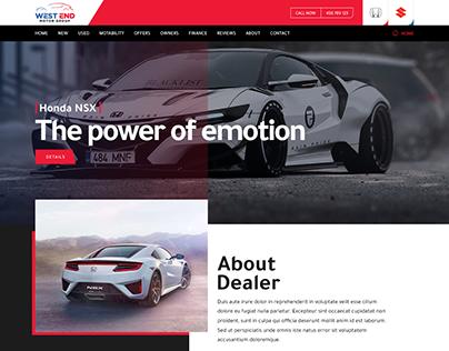 Dealer website landing page design