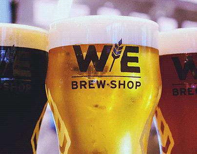 WE Brew Shop Branding