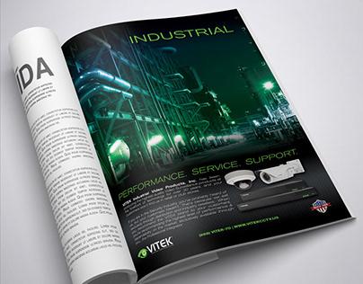 """Full page """"VITEK Industrial"""" Advertisement"""