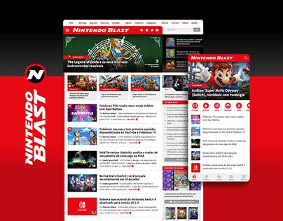 Nintendo Blast - Gaming Website UI/UX & Visual Identity