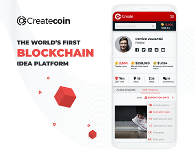 Createcoin - The World's First Blockchain Idea Platform