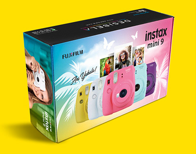 instax mini 9 ambalaj tasarımı