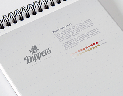 Dippers Restaurant Brand Identity