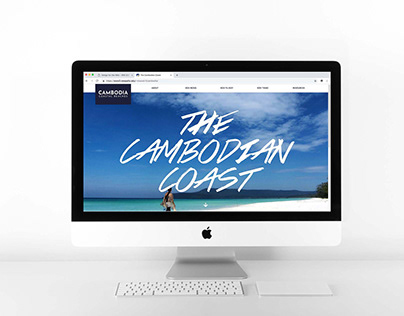Cambodian Coast Travel Website Concept