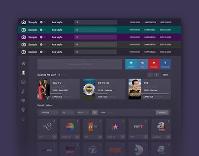 Canlı TV Arayüz Tasarımı