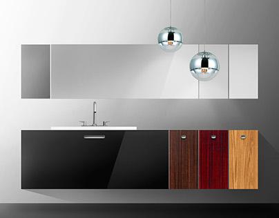 R1 - concept sketch of bathroom furniture set...