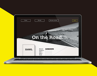"""Website designed for Beat Generation """"On the Road"""""""