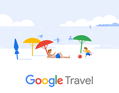 Google Travel Illustration set