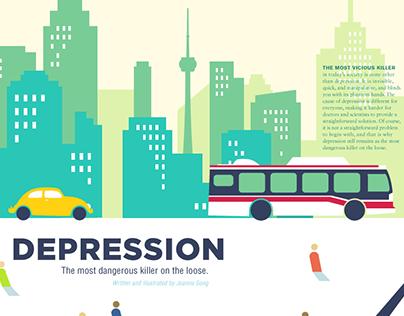 magazine layout : depression
