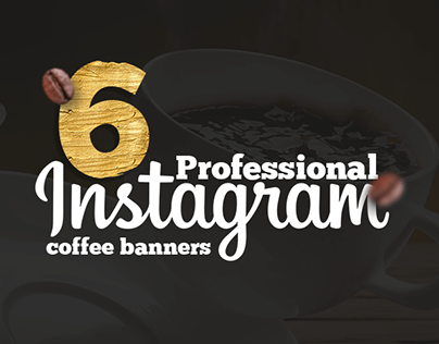 6 Professional Coffee Shop Instagram Banners