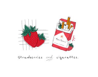 Troye Sivan - Strawberries & Cigarettes Illustration