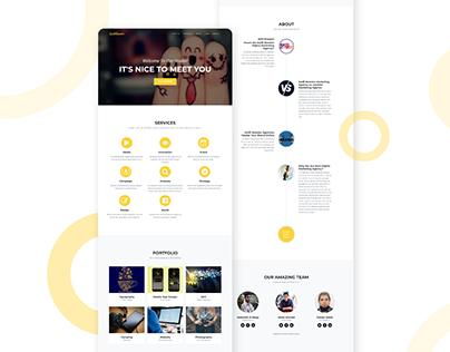 Digital Agency Website - UI/UX Design
