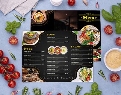 Restaurant Menu Food CustomDesign