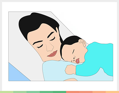 Women | Mother and Son Illustration Vector