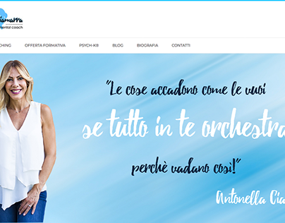 Web Design - Antonella Ciamarra Life Coach