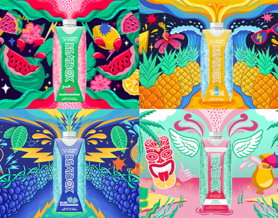 BeatBox Beverages Party Punch: Website Illustrations