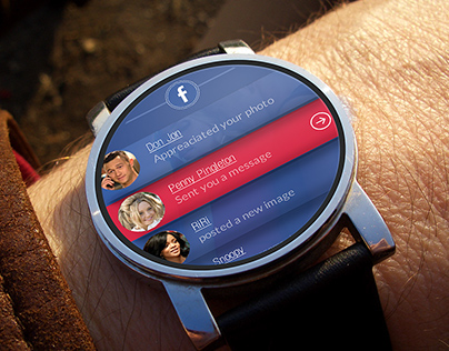 Facebook - smart watch app | UX UI design