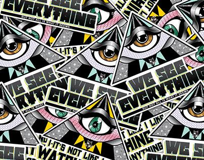 Illuminati Siblings Stickers