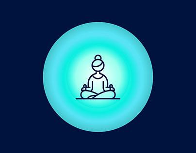 Breathe- Single screen app for meditation