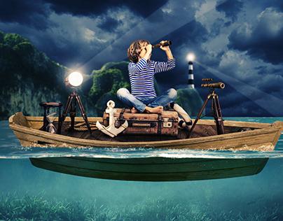 Young Sailor | Photo manipulation | Photoshop Tutorial