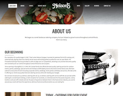 Woocommerce Catering website