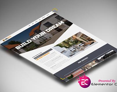 Concrete Service Homepage Design