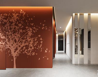 Дизайн интерьера подъезда жилого комплекса