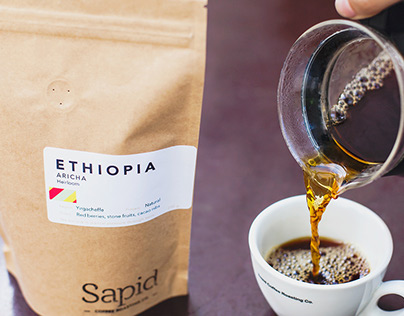 Sapid Coffee Roasting co. branding