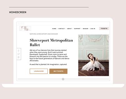 Shreveport Metropolitan Ballet: Branding + Web Design