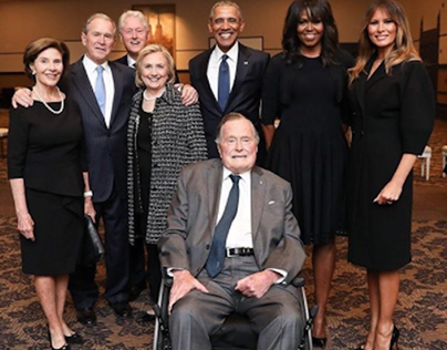 Obamas, Clintons, Bushes, & Melania Trump Photographed