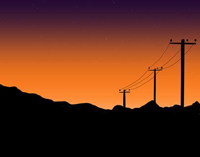 Late Evening Drives - Digital Artwork