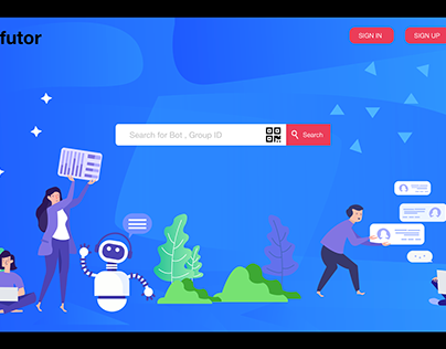 Landing page for Chatbot .