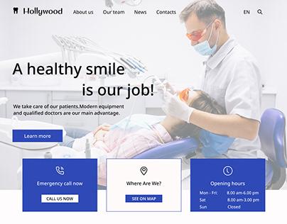Dental clinic landing page