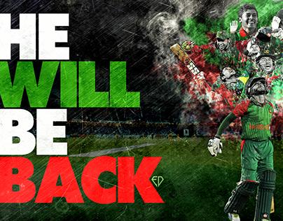 He Will Be Back- Mushfiqur Rahim Desktop Wallpaper