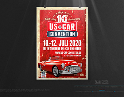 US CAR CONVENTION 2020 • The Poster