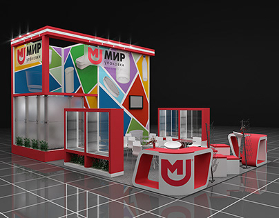 Design of advertising and exhibition stands.