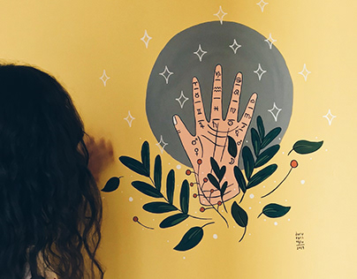 Astro Illustrations On The Walls